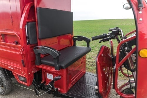 Elektrofrosch Elektro Kleintransporter Sitze