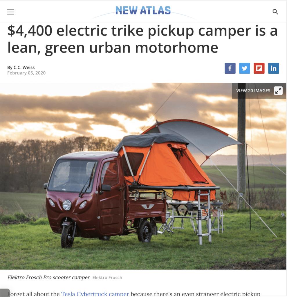 Elektrofrosch Camping - Beitrag bei ComputerBild