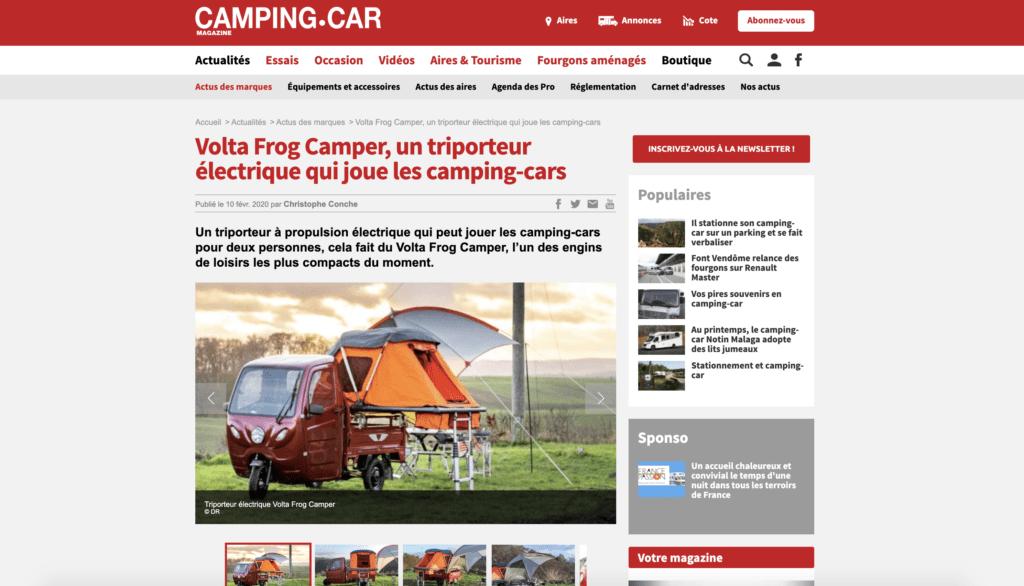 Elektrofrosch Camper, ein Elektroroller, der Wohnmobil spielt